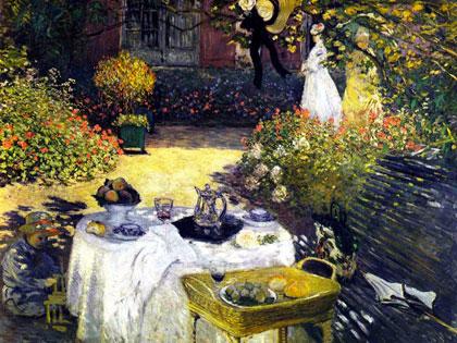 Claude Monet - Oběd v zahradě