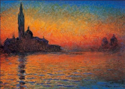 Claude Monet - Západ slunce v Benátkách